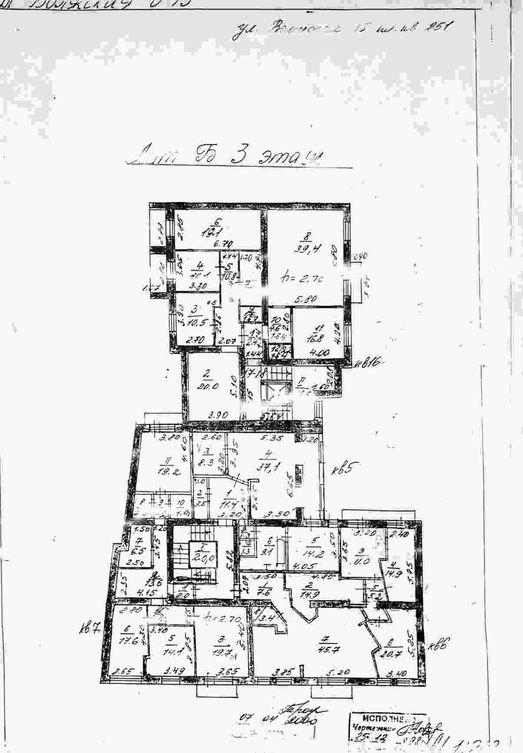 План квартиры Ландо на 3-ем этаже