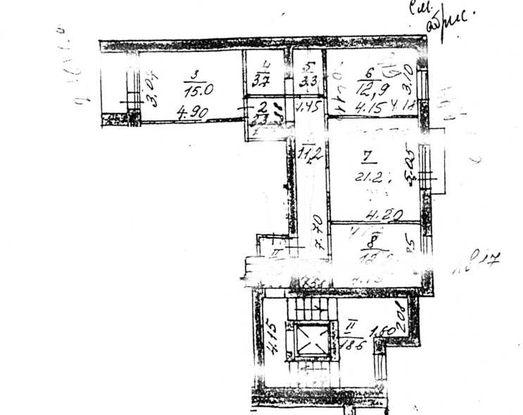 План квартиры Ландо на 4-ом этаже