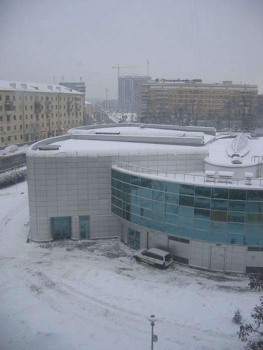"Минск. Вид на кинотеатр ""Беларусь"", январь 2011 года."
