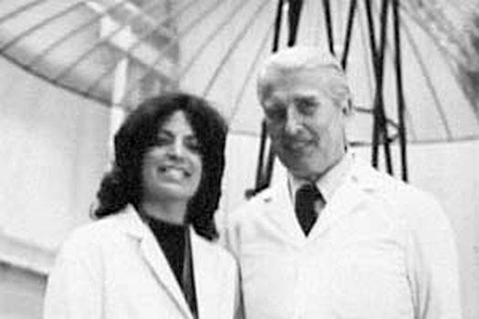 Кэрол Росин и Вернер фон Браун, фото середины 1970-х годов.