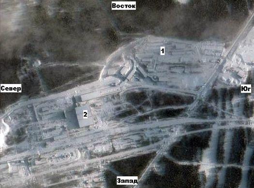 Белорецкий ГОК, снимок из космоса.
