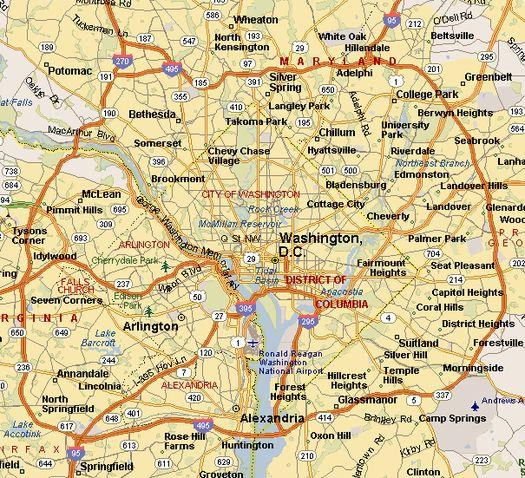 Кольцевая дорога вокруг г. Вашингтон: Interstate-495 (I-495).