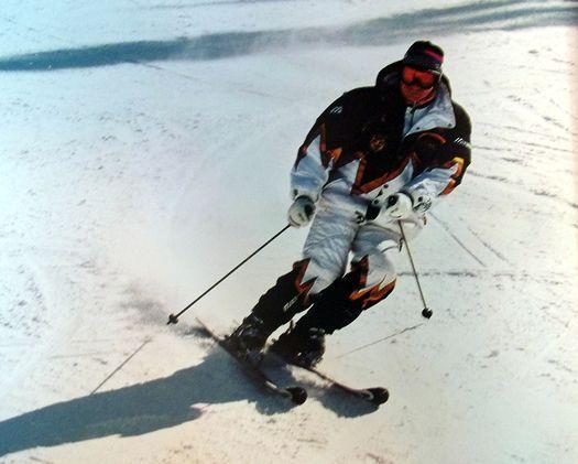 Владимир Путин на лыжах.