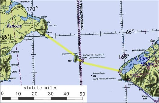 Проект Берингова туннеля: на островах Диомида планируется сделать перевалочный пункт.