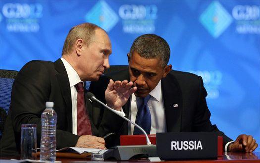 Владимр Путин и Барак Обама (фото – «Znak.com»).