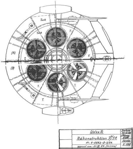Чертёж штурмового диска-самолёта «Omega Diskus» Андреаса Эппа.