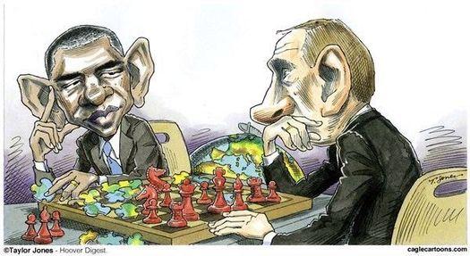 Putin-Obama cartoon