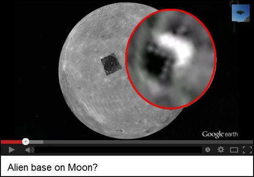 База инопланетян на Луне.