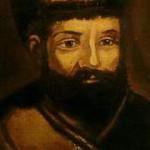 Прижизненный портрет Е.И. Пугачёва, написан маслом поверх портрета Екатерины II.