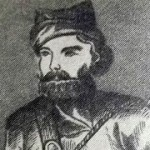 Портрет Емельяна Пугачёва, рисунок с гравюры неизвестного художника (из книги М. Жижка, с. 20).