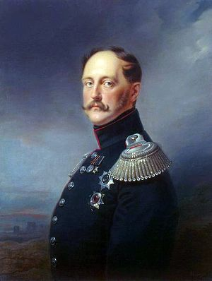 Портрет императора Николая I, выполненный в 1852 году придворным живописцем Францем Крюгером.