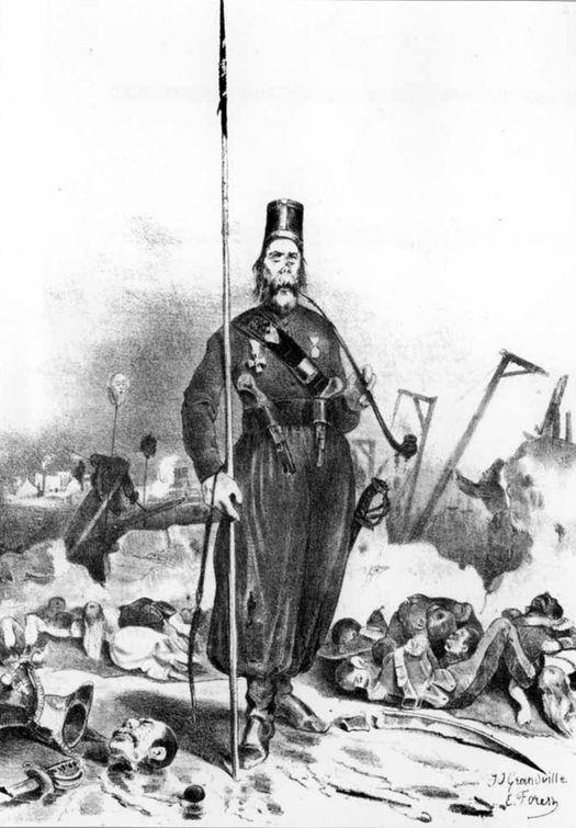 «Порядок правит в Варшаве». Французская карикатура Ж.Ж. Гранвиля и Э. Форе «Le Charivari» 1832 г.