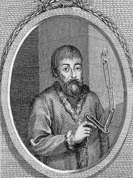 «Пугачёв на цепи»: гравюра 1834 года с оригинала неизвестного художника.