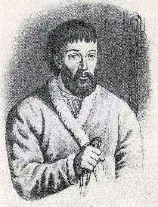 Портрет Емельяна Пугачёва, заказанный Александром Пушкиным во Франции.