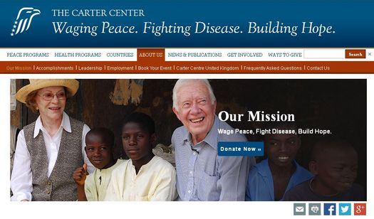 Соратники Саймона Дюкача – демократы и людоведы из «Carter Center» (скриншот страницы веб-сайта «Carter Center»).