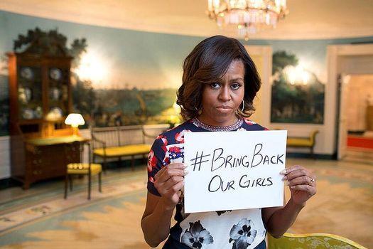 Мишель Обама обеспокоена похищением нигерийских девушек.