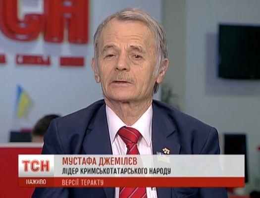 Мустафа Джемилёв 11 января 2015 года в эфире украинской телекомпании «1+1».