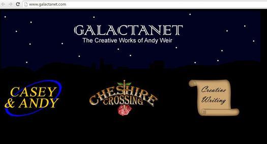 Galactanet.com – первый персональный сайт Энди Вейера.