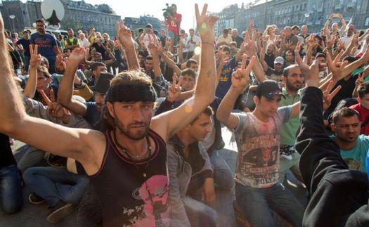 Беженцы в Европе, сентябрь 2015 года.