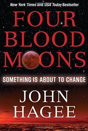 """Книга Джона Хаги """"Четыре Кровавых Луны""""."""