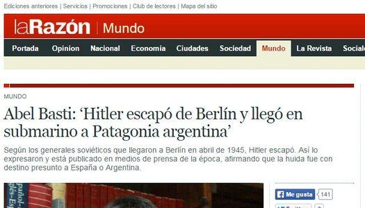 Скриншот публикации газеты «La Razón».