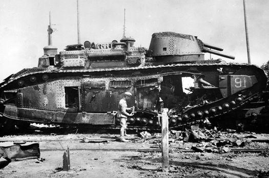 Огнемётный танк французского производства B2 (F1).