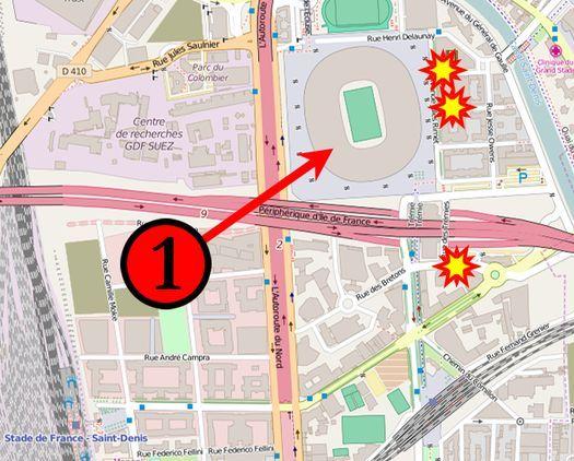 Теракты возле стадиона «Stade de France».
