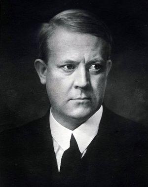 Видкун Квислинг, фото 1919 года.