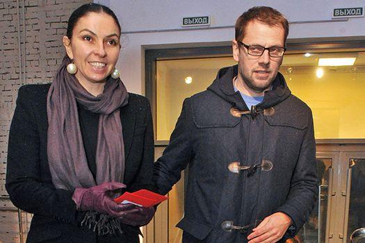Генеральный директор телеканала «Дождь» Наталья Синдеева и инвестор телеканала Александр Винокуров (фото: Вячеслав Прокофьев, «Коммерсантъ»).