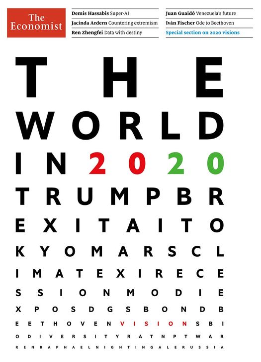 предновогоднем номере «The Economist» от декабря 2019 года с прогнозом на 2020 год.
